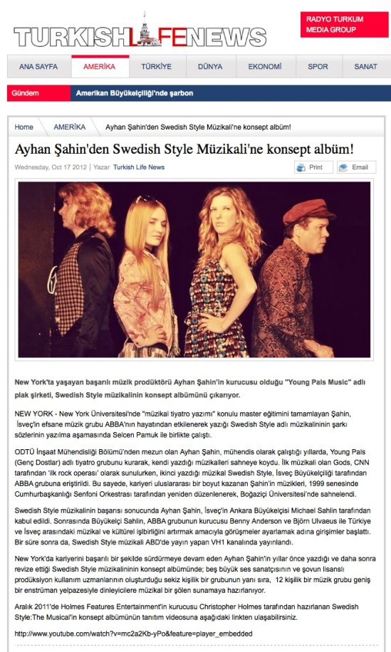 Turkish Life News 10-18-2012 Swedish Style