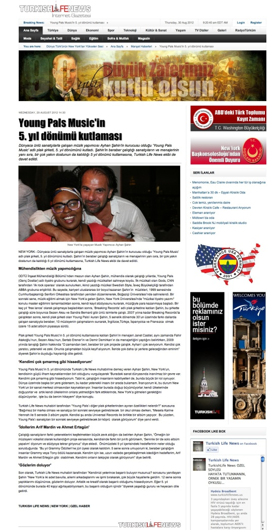 Turkish Life News-8-30-YP5th